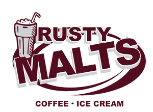 Rusty Malts Coffee & Ice Cream Logo