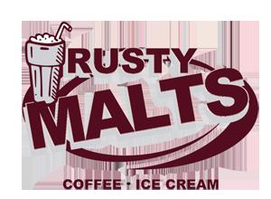 Rusty Malts Coffee & Ice Cream Logo